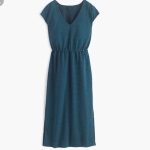 J.Crew Perforated Draped Side Slit Dress